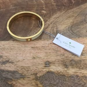 kate spade Jewelry - Kate spade ivory and gold bangle